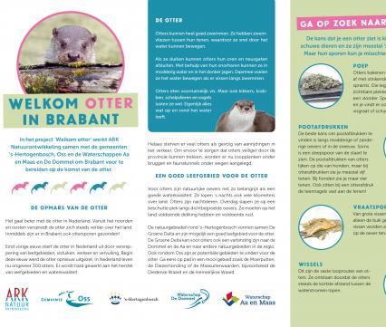 Educatieplaat Welkom otter in Brabant