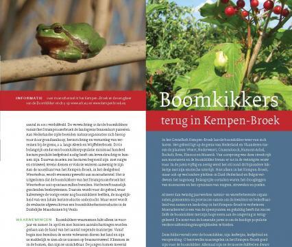 Folder Boomkikkers terug in KempenBroek