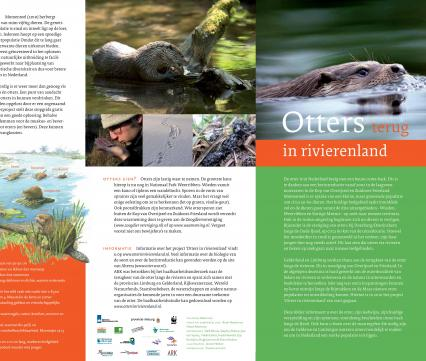 Folder Otters terug in Rivierenland